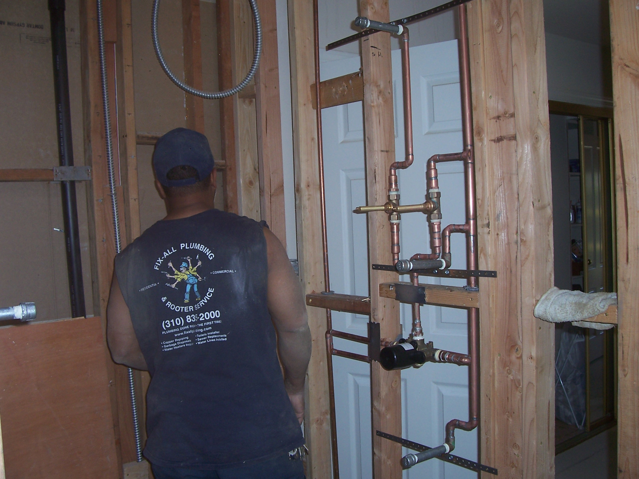 wilmington bathroom shower rough in: temperature and steam control ...