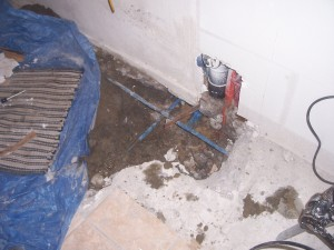 Fix All Plumbing Repairs A Leak Under A Concrete Slab In
