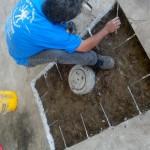 Placing Rebar prior to pouring concrete