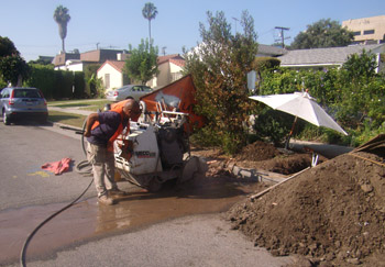 Cutting Asphalt in front of house in El Segundo