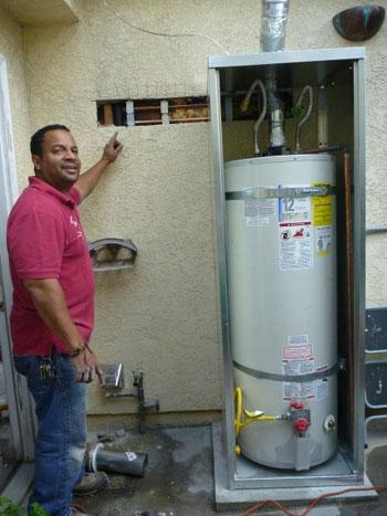 San Pedro Plumbing Water Heater Re Location